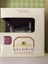 Baldwin 3805-260 premium robe hook INTERCHANGEABLE RINGS 100% SOLID BRASS ❤️ NIP