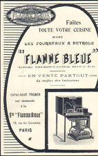 PARIS COURONNES PUBLICITE STE DE FOURNEAUX A PETROLE FLAMME BLEUE 1913