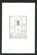 Radierung signiert FERNANDO BOTERO - auf Original Papier der 70er