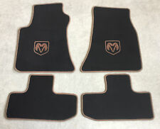 Autoteppich Fußmatten für Dodge Challenger ab Bj.2008 Velours sw braun 4tlg. Neu