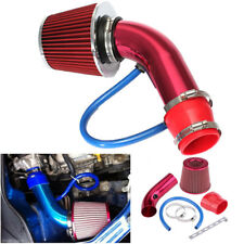 "3"" Red 76mm Aluminum Car Cold Air Intake Induction Pipe Hose Cone Filter Kit"