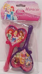 Maracas Disney PRINCESSES Ariel Cinderella 2 Piece Musical Instrument Toy