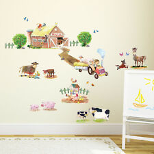 Decowall Farm Animals Nursery Kids Removable Wall Stickers Decal Dw 1407
