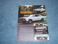 "1969 Dodge Dart Vintage Street Machine Article ""Light Sleeper"" ---From 1978---"