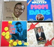 NAT KING COLE PERRY COMO WALTZES Lot of 5 Vinyl Record Album Lot # 14