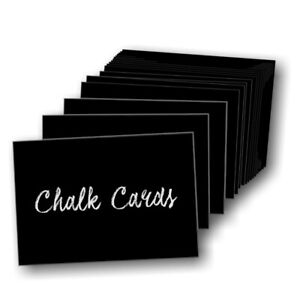 Chalk card inserts labels black pvc price tickets A7 A5 A4 A3 A2 A1 write on