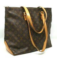 Louis Vuitton Cabas Mezzo Monogram Canvas Leather Tote Shoulder Hand Bag Auth AR