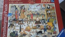 Crazy Cats in the craft room 1000 Piece Jigsaw Puzzle Ravensburger