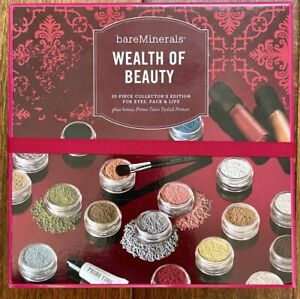 NEW BAREMINERALS *WEALTH OF BEAUTY* 20-PIECE COLLECTORS KIT FOR EYES,FACE & LIPS