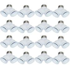 E27 LED Base Light Lamp Bulb Socket 1 to 2 Splitter Adapter Converter Cool White