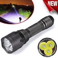 Super Bright 8000LM 3x CREE XM-L T6 LED 5-Mode 18650 Flashlight Torch Light Lamp
