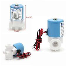 "1/4"" 12V DC Plastic Metal Electric Solenoid Valve Water Air RO Machine 0-120PSI"