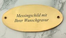 MESSINGSCHILD Türschid - oval 105x54mm - mit Ihrer WUNSCHGRAVUR