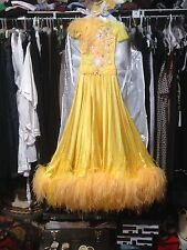 Yellow Ballroom Dress/Gown Girls size 8-12 with accessories