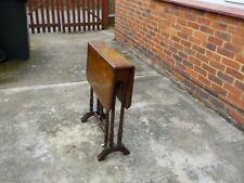ANTIQUE VICTORIAN WALNUT SUTHERLAND TABLE WITH TURNED LEGS