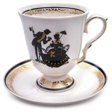 Large Mug w/Saucer White Porcelain Made in Dulevo Russia Original
