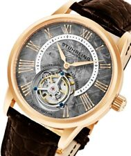 Stuhrling Original Men's New 862.03 Tourbillon Meteorite Limited Alligator Watch