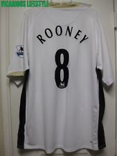 ROONEY #8 Manchester United 2006-2008 Short-Sleeves Away Shirt XXL w/ badges
