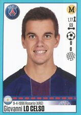 T41 GIOVANNI LO CELSO ARGENTINA UPDATE TRANSFERT STICKER FOOT 2017 PANINI