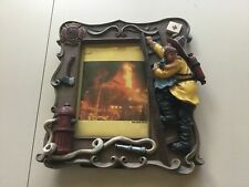 VanMark Red Hats Of Courage 3.5x5 Picture Frame 1999 -fireman FIre Department FD
