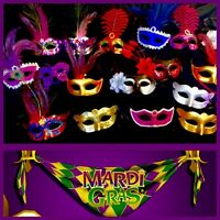 Mardi Gras Masquerade Wholesale Lot Wedding -Halloween! Party Favor - 25 MASKS!