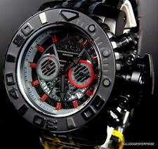 Invicta JT Jason Taylor Sea Hunter III Black Red 70mm Full Size Watch Swiss New
