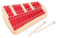Xylophone Glockenspiel Chromatique Carillon en Bois Musical 23 Notes Rouge Set