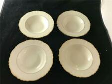 4 Syracuse China Brantly Flat Soup Bowls Old Ivory