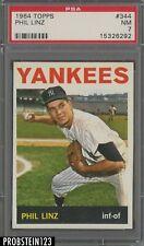 1964 Topps #344 Phil Linz New York Yankees PSA 7 NM