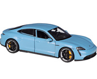 Welly 1:24 Porsche Taycan Turbo S Blue Diecast Model Sports Racing Car IN BOX