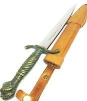 Othello Solingen Jagdmesser Messinggriff mit Lederscheide Hunting Knife Germany