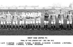 West Ham Utd FC 1912 Cup Team Photo