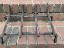 Fireplace Log Hoder Cradle 19 X 12 1/2 Solid Metal Heavy