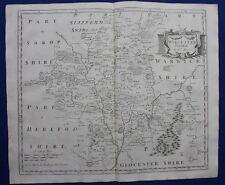WORCESTERSHIRE original antique map from CAMDEN'S BRITANNIA, R. Morden, 1722