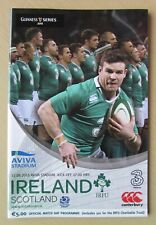 Very Rare 2015 - Ireland v Scotland - World Cup Warm-Up Programme