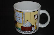 vtg Gary Larson Far Side Coffee Cup Mug Happiness Chicken of Depression color