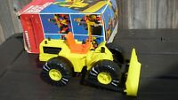 VINTAGE RARE 1975 METTOY WEST GERMANY PLAYCRAFT BUSY BODIES L5271 BULLDOZER TOY