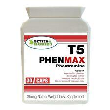 30 T5 Phentramine Muy Fuerte Dieta Pastillas Pérdida de Peso Quemadores de grasa Better Bodies