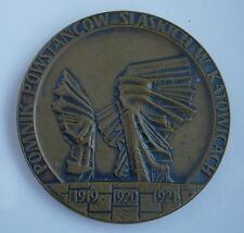 POLAND WWI 1919 1920 1921 SILESIAN UPRISING AGAINST GERMANY MEDAL bronze marked