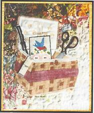 Nana's Sewing Basket watercolor quilt kit by Whims