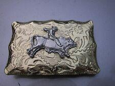 "Vintage Western Bucking Bull  Belt Buckle - 2"" x 3"""