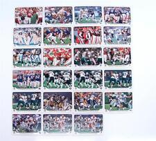 LOT OF 23 FLEER TRADITION TEAM STATISTICS 2000 FOOTBALL COLLECTORS CARDS