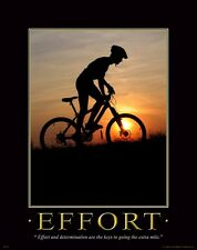 Bicycle Motivational Poster Art Print Mountain Road Bike Helmet Shorts MVP126