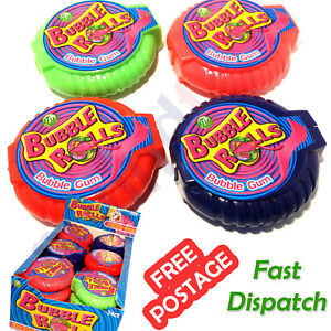 BUBBLE ROLLS Fruit Flavoured Yummy CHEWING GUM Candy Party Birthday Goodybag UK