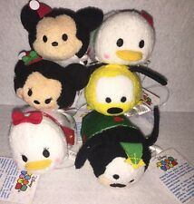 Nwt - Disney Christmas / Holiday Tsum Tsum Set of 6 - In Hand! Mickey Pluto .