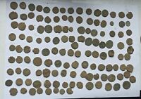 LARGE LOT OF 130 ANCIENT ROMAN IMPERIAL BRONZE COINS II-V CENTURY AD