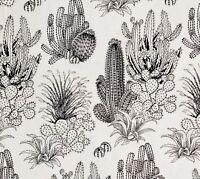 Alexander Henry Desert Floor Natural Black Cactus Wild West Cowboy Cotton Fabric