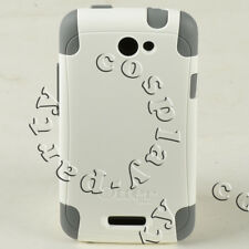 OtterBox Commuter 2-Layers Hard Shell HTC One X Case Snap Cover (White/Gray)