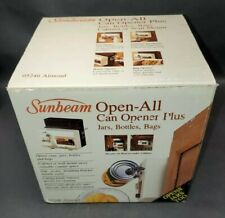 New Vintage Sunbeam Open-All Under Cabinet Electric Can Opener 05246 Almond A1