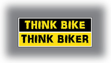2 X Pegatina de Bicicleta pensar pensar Bicicleta pensar Biker Parachoques Auto-Adhesivo Vinilo